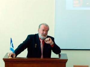 Фото: Гостей привітав перший проректор, доктор економічних наук, професор Редько Олександр Юрійович.