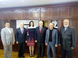 Фото: На встрече с ректором и проректорами Академии.