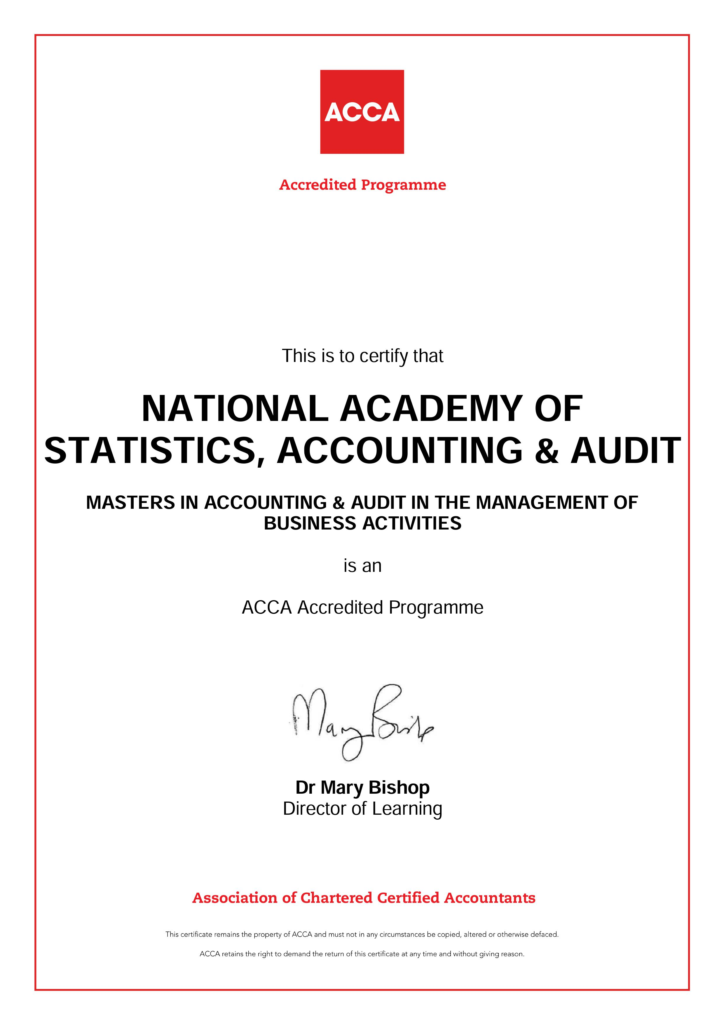 Accredited masters program sets for accounting and auditing in acca 1betcityfo Gallery