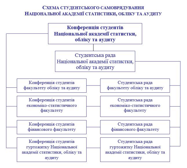 Фото: Схема студентського самоврядування НАСОА.