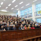 Фото №3: Зустріч студентів НАСОА з професором Віктором Михайловичем Пинзеником.