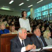 Фото №4: Зустріч студентів НАСОА з професором Віктором Михайловичем Пинзеником.