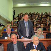 Фото №6: Зустріч студентів НАСОА з професором Віктором Михайловичем Пинзеником.