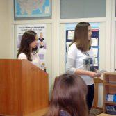 Фото: Студентки 1-го курсу Луговська Альона та Білойван Вікторія «Міжнародний менеджмент» (Викладач: Олександрова Г. М.)